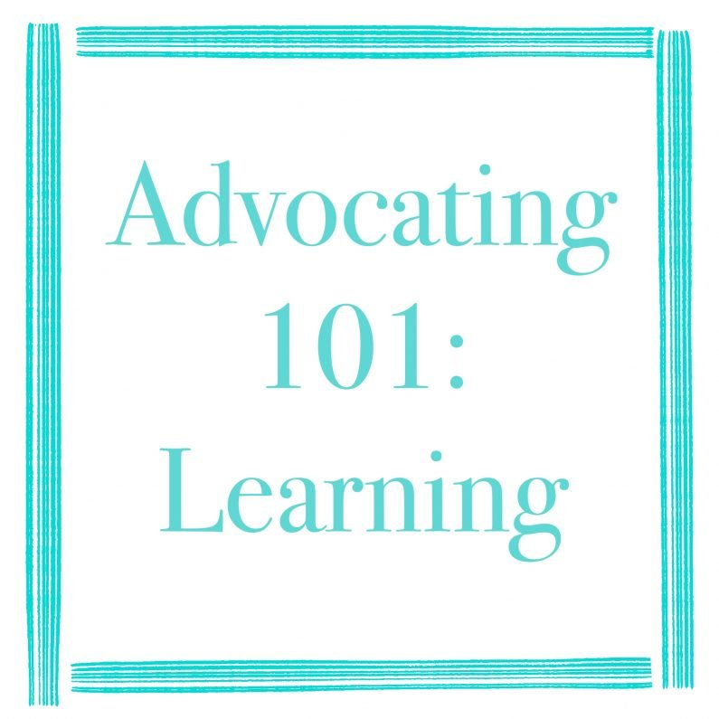 Advocating 101: Learning
